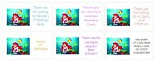 PERSONALISED STICKERS LABELS ADDRESS PARTY BAGS DISNEY THE LITTLE MERMAID