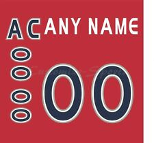 Hockey All Star 2000-01 The World Red Jersey Customized Number Kit un-sewn
