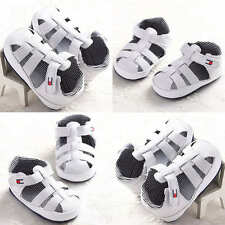 Baby Boy Girl Toddler Infant Sneakers Soft Leather Shoes Summer Sandals 11-13cm