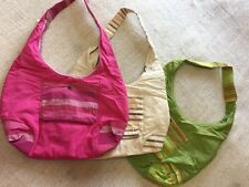 FairTrade Cotton Secure Zip Top And Pocket Holiday Beach Shopper Bag Bright Pink