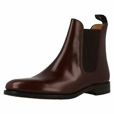 MENS LOAKE CHELSEA BOOTS 290T BROWN LEATHER FITTING F