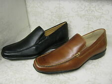 Mens Anatomic & Co Canudos 323240 Cognac Toast Or Black Leather Slip On Shoes