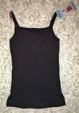 NEW Womens L Plus 1X ASSETS Red Hot SPANX Sleek Slimmers BLACK Camisole Tank Top