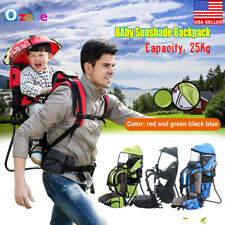 New Baby Toddler Backpack Crosscountry Carrier w/Stand Child Kid Sunshade Visor
