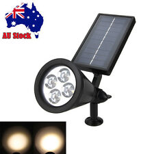 4-LED Solar Garden Lamp Pathway Spot Light Outdoor Lawn Yard Landscape Lighting
