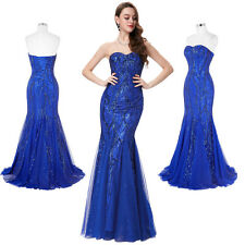 GLITZ Sweetheart Tulle Long Formal Evening Prom Party Mermaid Cocktail Dress Hot