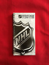 2014-2015 NHL Official Rules + Media Directory guide