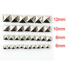 100pcs DIY Metal Punk Square Pyramid Spike Rivet Studs Leathercraft 6-12mm hot