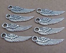 PJ16 Tibetan Silver Dangle Charms wing Accessories Jewelry Findings 30-100pcs