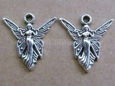 PJ44 Tibetan Silver Charms Angel Accessories Jewelry Findings Wholesale 20-100pc