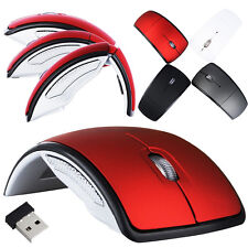 Hotsale Optical Foldable Folding Wireless Mouse Mice+USB 2.4G Snap-in Receiver
