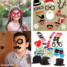 DIY Photo Booth Props Lips Sticker Mustache Wedding Birthday Xmas Party