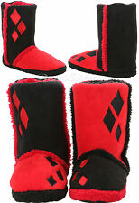 Suicide Squad DC Comics HARLEY QUINN Womens Slippers Boots Plush House Shoes XL