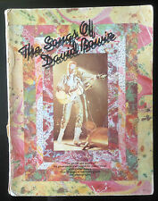 The Songs Of David Bowie Wise Productions Book Mega Rare 1st Edition Sheet Music