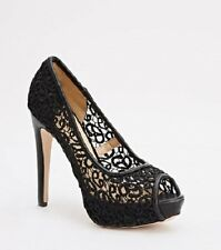 Women Peep Toe Lace Mesh High Heel Pump Stilettos Shoes UK 2.5 3 4 5 6 7 8