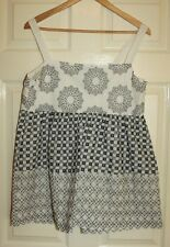 Next Black and white summer top size 14