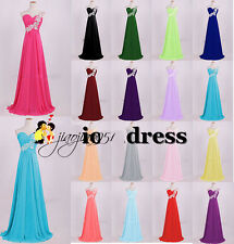 STOCK New Beaded Chiffon Prom Party Ball Gown Evening Bridesmaid Dress Size 6-18