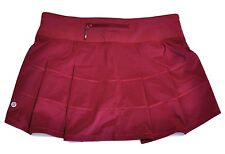 NWT Lululemon Pace Rival Skirt II Rosewood Red Sz 2 4 6 8 10 Tennis Run NEW