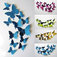 3D Mirror Wall Stickers Decal Butterflies Wall Art Vinyl Home Decors Mural Quote
