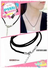 New 5Pcs PU Leather Chains Necklace Charms Findings String Cord 18'' DIY