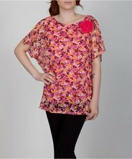 NWOT Women Plus size beautiful lace floral double layer blouse top 1X 2X 3X nice