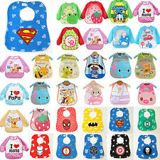 Baby Kids Toddler Infant Boys Girls Cartoon Bibs Waterproof Saliva Towel Feeding