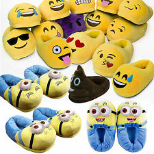 3D Emoji Plush Stuffed Unisex Slippers Cartoon Winter Home Indoor Shoes Slippers