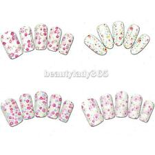 20PCS Flowers Floral Painting Nail Art Stickers Water Decals Nail Wraps Trasfers