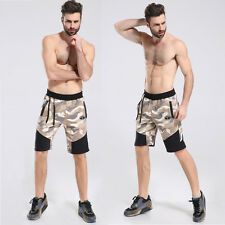 Men Cotton Camouflage Shorts  Gym Trousers Sport Jogging Trousers Casual  pants