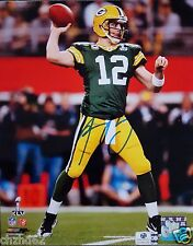 Green Bay Packers Aaron Rodgers Super Bowl XLV reprint 8x10 Autograph
