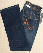 NWT ROCK & REPUBLIC Icon BOOTCUT Denim Jeans Blue Henlee Men's 100% Cotton 29x30