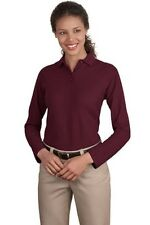 Port Authority L500LS Ladies' Silk Touch Long Sleeve Polo