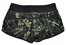 NWT Lululemon Run Speed Short H2O Sz 8 Medium Camo Pop Cut Fatigue Black Swim
