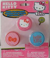 New 3-Piece Hello Kitty Pencil Top Stampers Party Favor Gift Ages 3+