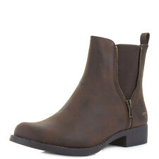 Womens Ladies Rocket Dog Camilla Brown Comfort Fashion Elastic Boots Size