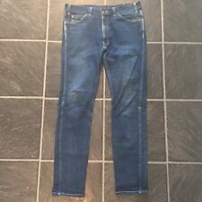 LEVIS VINTAGE CLOTHING 60s 605 RIGID RAW ORANGE TAB DENIM JEANS W 34 LVC