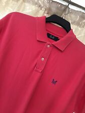 Men's Crew Clothing Large L Polo T Shirt Pink Red Designer Coral