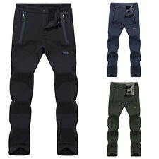 New Men Outdoor Autumn Warm Fleece Waterproof Trousers Climbing Soft shell Pants