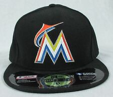 NEW ERA AUTHENTIC LOS MIAMI MARLINS ON-FIELD CAP 59FIFTY HAT BLACK