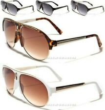 NEW MENS LADIES VINTAGE LARGE BIG RETRO  AVIATOR UV400 SUNGLASSES