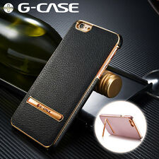Ultra Thin Shockproof Leather Hard Back Stand Case For Apple iPhone 6 6S Plus