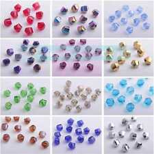 Wholesale 8mm Faceted Crystal Findings Glass Loose Spacer Twisted Beads 20/30pcs