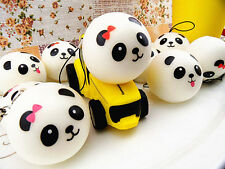 CUTE SQUISHY PANDA BREAD BUN PHONE CHARM MUSHY KEYRING DECORATION GIFT KAWAII