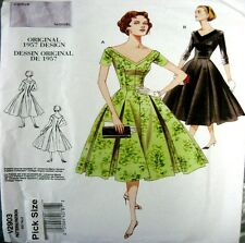 Vogue Sewing Pattern 2903 Ladies Vintage Model 50s Fit Flare Dress Choose Size
