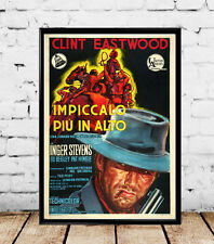 1968 Hang 'Em High/Impiccalo Piu In Alto Clint Eastwood Vintage- Multi Size