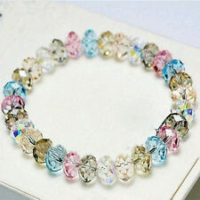 Woman's Fashion Crystal Faceted Loose beads Bracelet Stretch Bangle Hot Sale