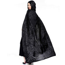 Vampire Style Velvet Hooded Cloak Wicca Robe Witches Capes Halloween Apparel