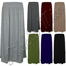 Women Celebs Fold Over Turn Up Pleated Waist Ladies Jersey Gypsy Long Maxi Skirt