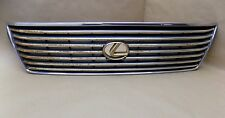 98 99 00 LEXUS LS400 LS 400 OEM CHROME AND GOLD FRONT GRILL GRILLE 53112-50050