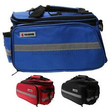 Bike Rear Seat Bag Luggage Pack Bicycle Pannier Bags with Rain Cover